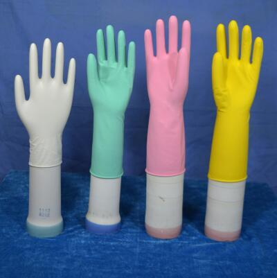 cleaning household rubber gloves